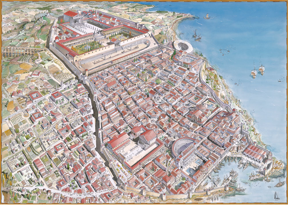 planol tarraco tarragona romana