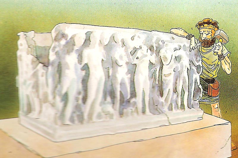 sarcòfag d'Hipòlit fem tarragona per als petits itinere didàctiva visita guiada tarraco